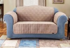 Sure Fit Quilted Suede TAUPE Sofa Pet Throw  waterproof