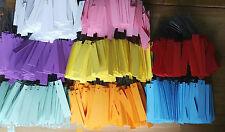 8 Farben dicke! PVC 250 Hängeetiketten Draht Etiketten Kunststoff Preisschilder