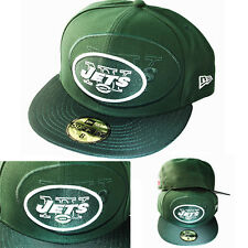New Era NFL new York Jets 5950 Green Fitted Hat On Field Side Line Classic Cap