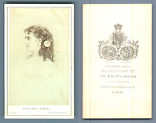 Adelina Patti, cantatrice italienne Vintage carte de visite, CDV  CDV, tirage