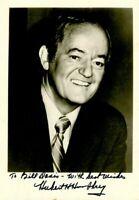 Hubert Humphrey signed Photograph
