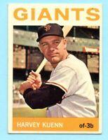 1964 Topps Baseball # 242 Harvey Kuenn -- Giants (VG-EX)       Box #739