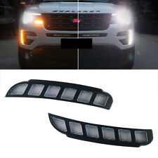 For Ford Explorer 2016~2018 Daytime Running Light DRL LED Fog Lamp Cover