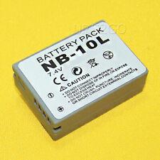 2x 1360mAh Replacement Nb-10L Battery for Canon PowerShot Sx40 Sx50 X60 Hs