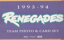 1993 - 1994 Richmond Renegades Team Photo & Player cards - minor league hockey