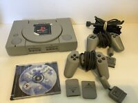 Sony PlayStation Gray Console (SCPH-5501) 2 Controllers, 2 Memory Cards, &Madden
