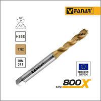 Taraud machine M3x0,5 hélicoïdal pour trous borgnes TITAN DIN-371 HSSE FANAR®