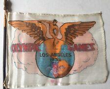 1932 Los Angeles Olympics Small Flag With Pole Scarce