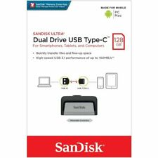 SanDisk® Ultra® Dual Drive USB Type-C™ 128GB USB 3.1 150 MB/s for Smartphones