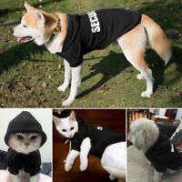 Dog Hoodie Clothes Pet Puppy Cat Coats Jacket Sweatshirt for Dogs XS S