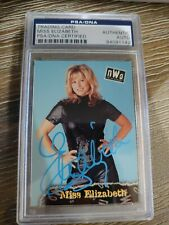 MISS ELIZABETH SIGNED AUTOGRAPHED RARE 1998 WCW NWO TOPPS CARD PSA DNA Slab Auto