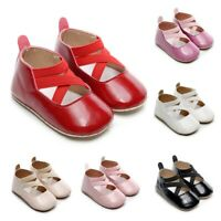 Toddler Kids Shoes Baby Girls Boys Cute Solid Firstwalk Cross Tie Casual Shoes