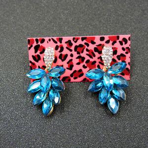 Betsey Johnson Fashion Jewelry Unique Shining Crystal Dangle Earrings