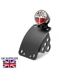 Motorcycle Side Mount Number Licence Plate Holder & LED Miller Stop Tail Light