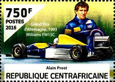 Zentralafrika postfrisch MNH Alain Prost Rennfahrer Formel 1 Auto Williams FW15c