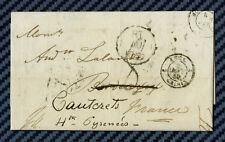 -== Lettre de LONDRES (Angleterre) pour CAUTERETS (Hautes-Pyrénées) -1850 ==-