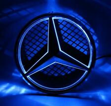 Motor Car Front Grille Star Emblem For Mercedes Benz Illuminated LED Light Blue