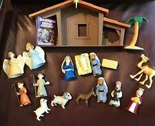BIBLE TOYS ~ THE NATIVITY PLAYSET  ~ 19* PIECE SET ~ AGES 3+ ~ ORIGINAL BOX ~