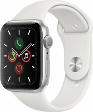 Apple Watch Series 5 (GPS) 44mm Silver Aluminum Case with White Band Grade B