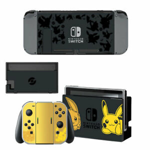 Pokemon Design Vinyl Decal Skin Stickers for Nintendo Switch w/ Screen Protector