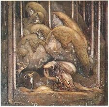 John Bauer Boy Tyrolean Hat Troll Nose Fairy Tale Postcard Sweden