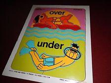 "Vintage 1973 Playskool Sesame Street : Bert and Ernie ""Over & Under"" 11pc Puzzle"