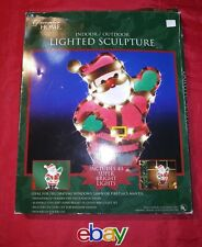 18-Inch Pre-Lit Santa Clause Christmas Hanging Yard Decoration 43 Lights GREAT