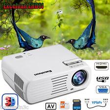 LED HD 1080P 4500Lumen 3D Projektor Heimkino Beamer Multimedia for Smartphone PC