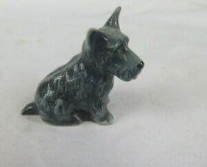 Branksome Dog Scottie Grey Animal Figure Sitting Down