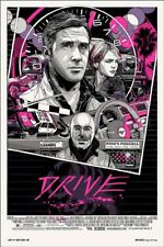 Tyler Stout Drive portrait regular SIGNED screenprint Mondo Ryan Gosling. RARE