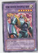 YU-GI-OH Böser Held Lightning Golem Common Asiatisch