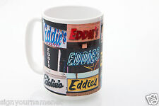 EDDIE Coffee Mug / Cup featuring the name in actual sign photos