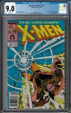 X-Men # 221 CGC 9.0 WP Newsstand Copy , 1st app. of Mr. Sinister