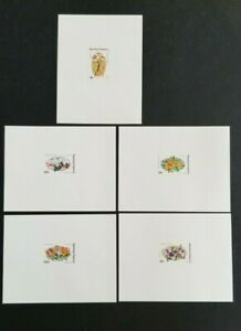 Togo 1975 Flowers 5 Different MNH Imperf Sheets