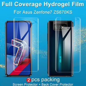 imak For Asus Zenfone 7 Pro ZS671KS Soft Hydrogel Film Curved Screen Protector
