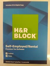 H&R BLOCK Tax Software Premium 2019 CD or Download