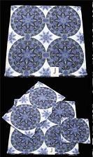 3 JAKSON Moroccan Medallion Purple Tones Velour Bath & Hand Towel Wash Cloth NWT