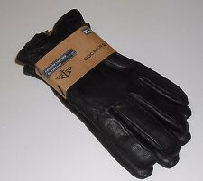 Dockers Men's Genuine Leather Sherpa Lined Gloves Black XL NWT MSRP $60.00