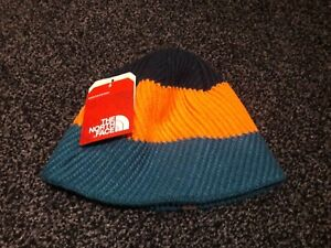 THE NORTH FACE YOUTH GONE WILD BEAN EGYPTIAN BLUE MEDIUM KIDS REVERSIBLE