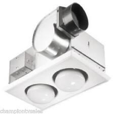 Broan Nutone 164 Bathroom Exhaust Fan/Heater Combo 70CFM, 2 Bulb NEW!  884574