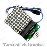 MODULO LED DISPLAY MAX7219 MATRICE 8 X 8 DOT MATRIX SHIELD (Arduino-Compatibile)