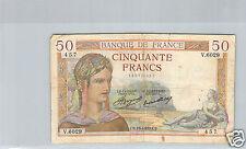 FRANCE 50 FRANCS CERES 15.4.1937 V.6029 N° 150720457