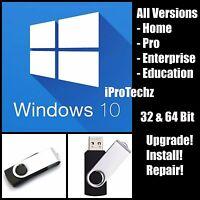 Windows 10 Usb 32 & 64bit Flash Drive Pro Home Enterprise Upgrade Repair Install