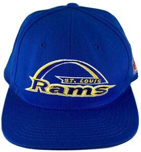 STARTER NFL PRO LINE ST. LOUIS RAMS MENS BLUE ADJUSTABLE FOOTBALL HAT VINTAGE