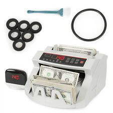 New Money Bill Counter Counting Machine Counterfeit Detector UV MG Cash Bank CE
