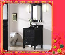 French Bathroom Vanity Oliver 600 Black Granite Top