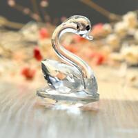 Creative Crystal Swan Wedding Party Table Decoration Handmade Figurine Ornaments