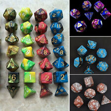 7pcs Multi Sided MTG Polyhedral Game Dice Dungeons Dragons D&D Pathfinder RPG