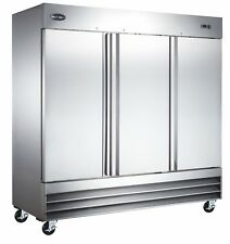 SABA Commercial Upright Freezer, Stainless Steel Freezer Storage (3 Solid Doors)