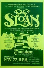"PF SLOAN - (3) 11"" X 17"" PLACARD POSTERS- DOUG WESTON'S TROUBADOUR - NOV.22,1993"